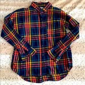 Old Navy Boyfriend fit Plaid Flannel Shirt